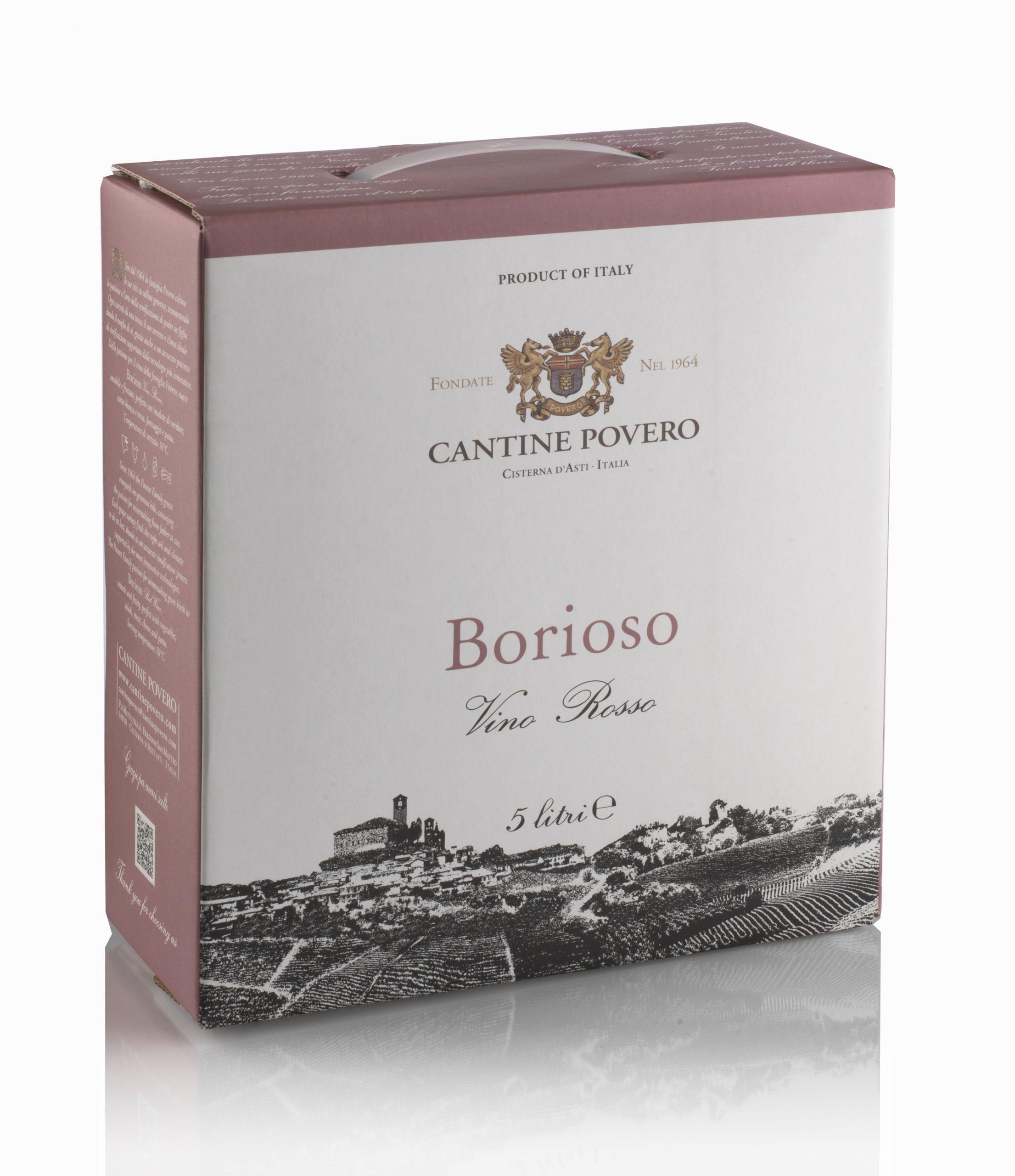 Borioso Vino Rosso 12,5% 5LT