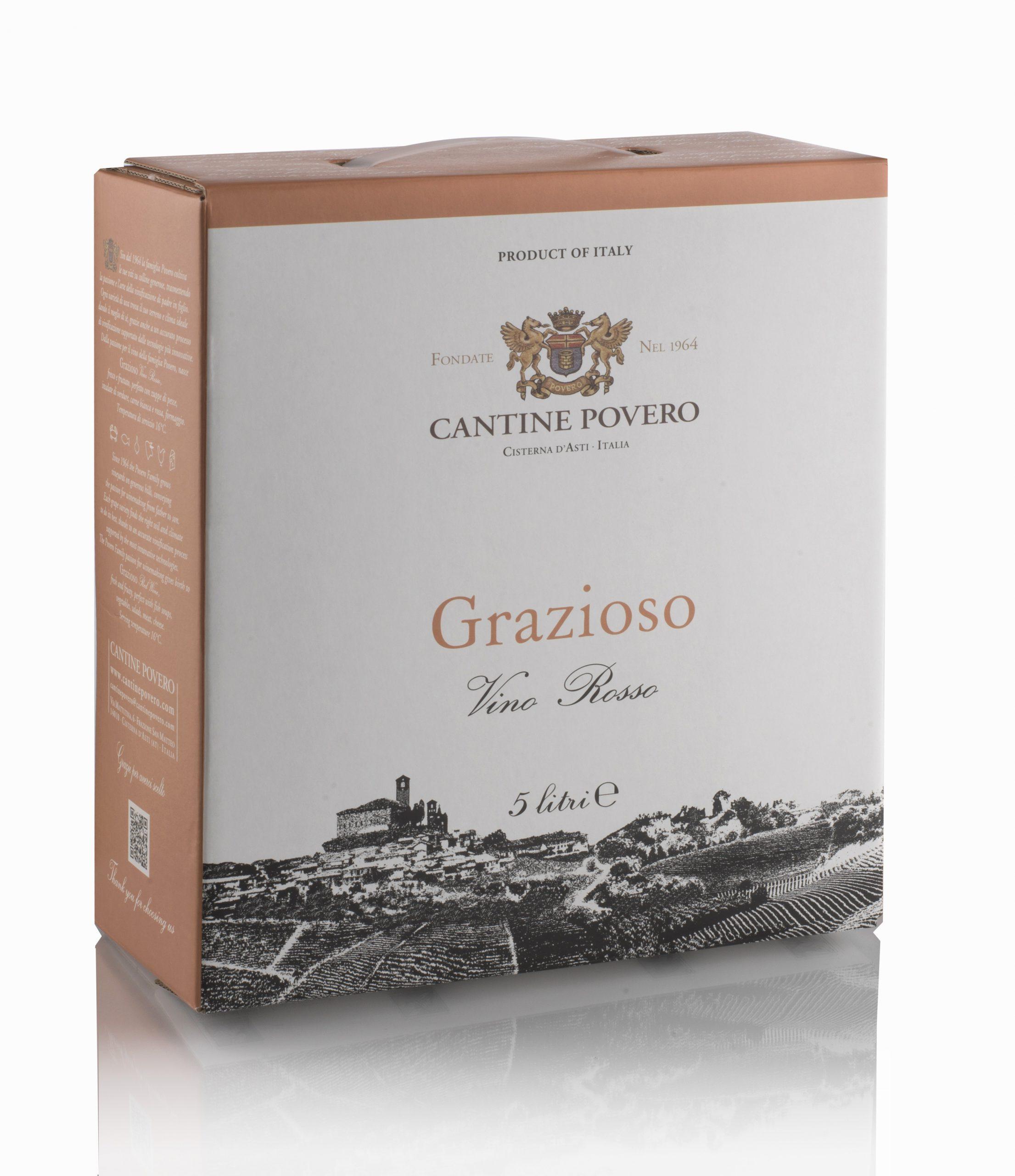 Grazioso Vino Rosso 12% 5 LT