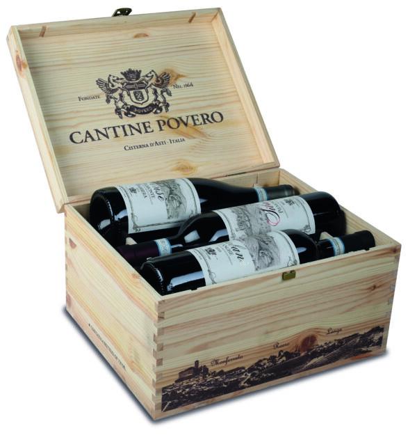 Cassetta di legno per 6 bottiglie di vino