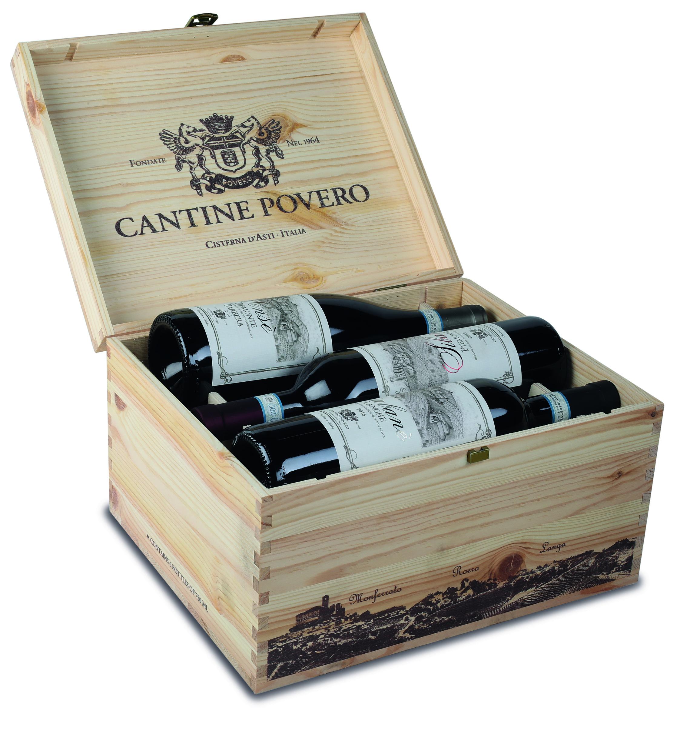 Cassetta di legno per 6 bottiglie
